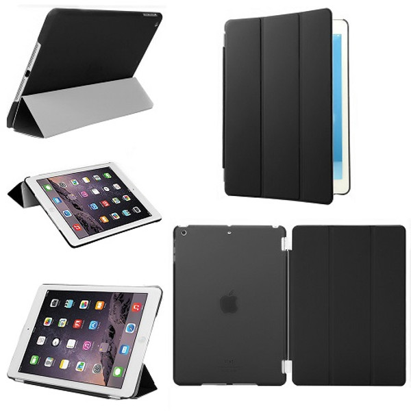 Smart Stand Leather Black Magnetic Case Cover For Apple iPad Pro 9.7'' (Released 2016)