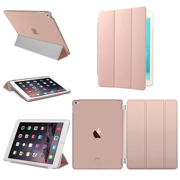 Smart Stand Leather Rose Gold Magnetic Case Cover For Apple iPad Pro 9.7'' (Released 2016)