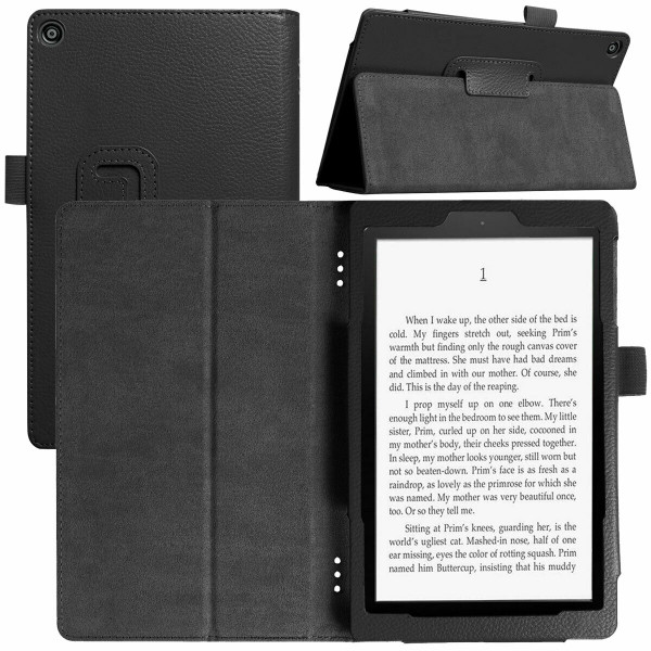 Amazon Kindle Fire  HD 8 (2017) Black Tablet Magnetic Smart  Stand  Case