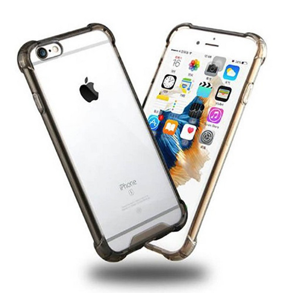 Transparent Clear Black Hard Back Case for Apple Iphone 8 Plus