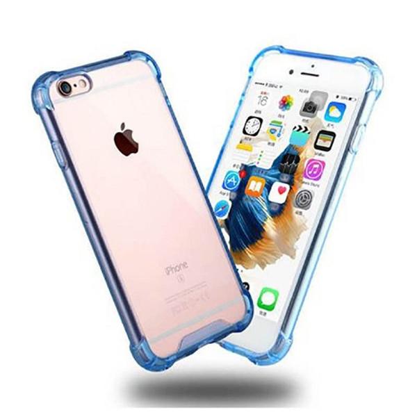 Transparent Clear Blue Hard Back Case for Apple Iphone 8 Plus