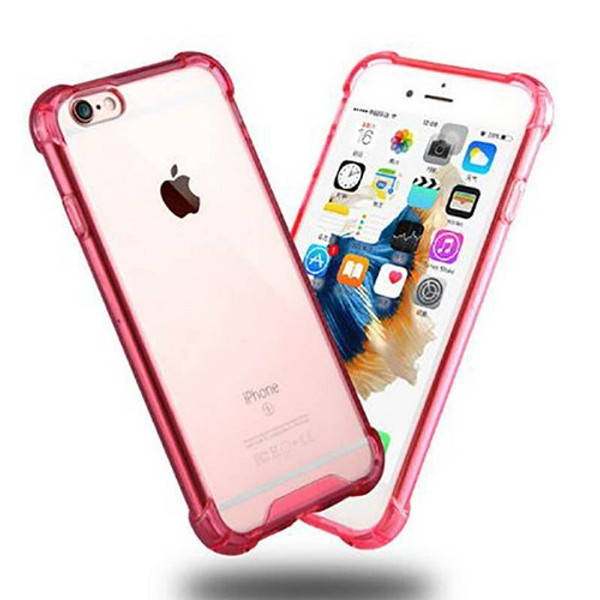 Transparent Clear Pink Hard Back Case for Apple Iphone 8 Plus