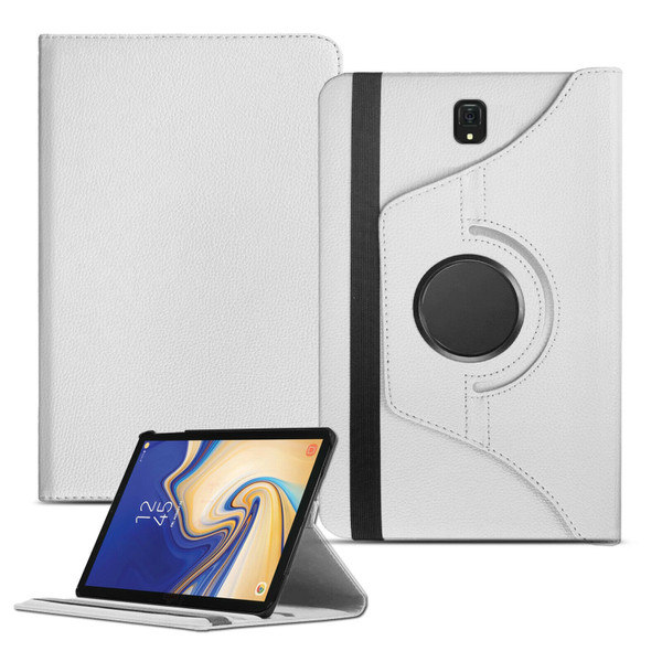 White PU Leather 360 Rotating Case for Samsung Galaxy Tab 4 7.0 (T230/T231/T235)