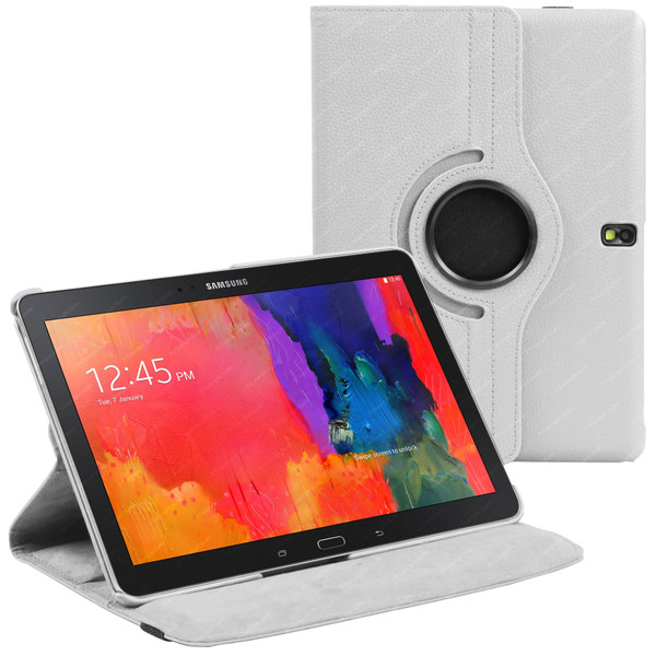 White PU Leather 360 Rotating Case for Samsung Galaxy Tab S 10.5 (T800/T801/T805)