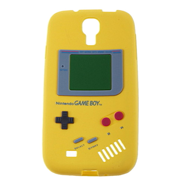 Yellow Retro GameBoy Case for Samsung Galaxy I9500 S4 + Screen Protector