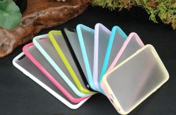 TPU Bumper Hard Back Case for Iphone 4 4S 5 5S 5C 6 6s and 6 6s Plus