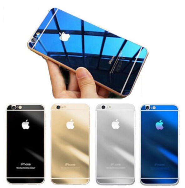 iPhone 6S Front Back Mirror Effect Glass Screen Protector Cover
