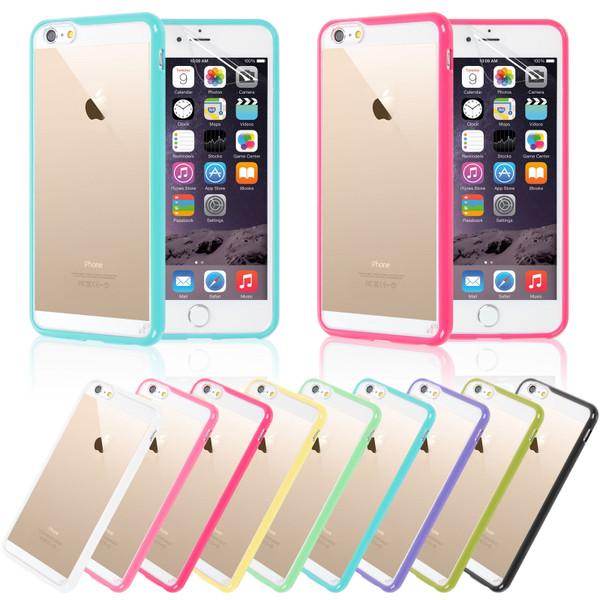 Apple iPhone 6 Plus Clear Hard Back Silicone TPU Bumper Case