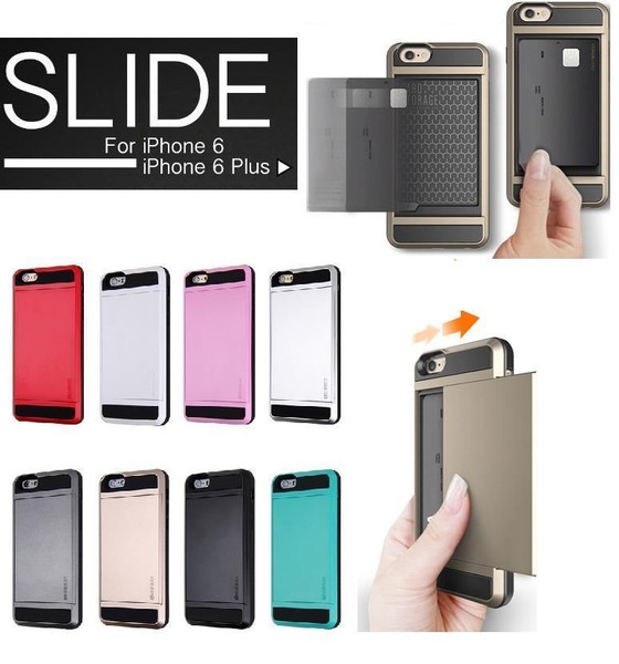 iPhone 6 Plus Verus Card Pocket Slim Hybrid Wallet Bumper Case