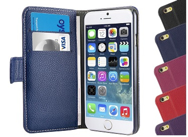 Apple iPhone 6 Plus PU Leather Wallet Case Cover