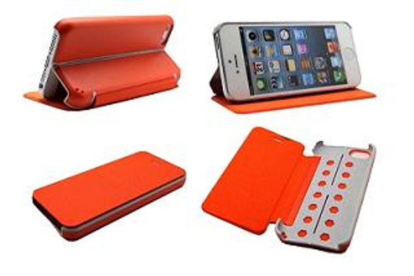iPhone 5c Hybrid PU Folia with PC Fold Kickstand Case