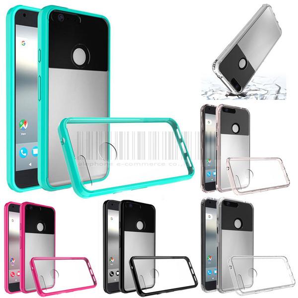 Google Pixel Hard Shockproof Transparent TPU Bumper Cushion Case Cover