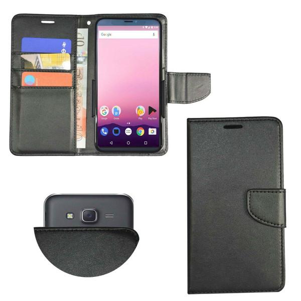 Stk Ace Plus  Leather Slide 2 Black Wallet  Case
