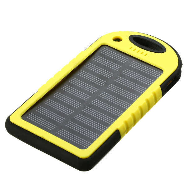 Apple Iphone/Samsung Yellow 50000mAh Solar Power Bank LED 2USB Battery Charger
