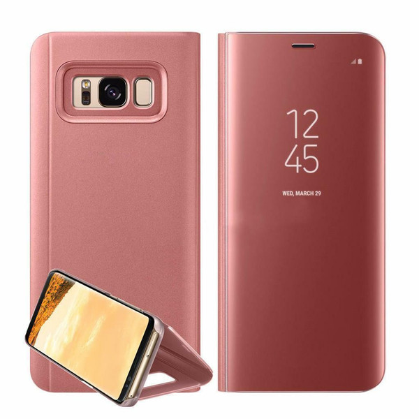 Samsung Galaxy  S10  Smart Rose Gold Mirror Leather Stand Case