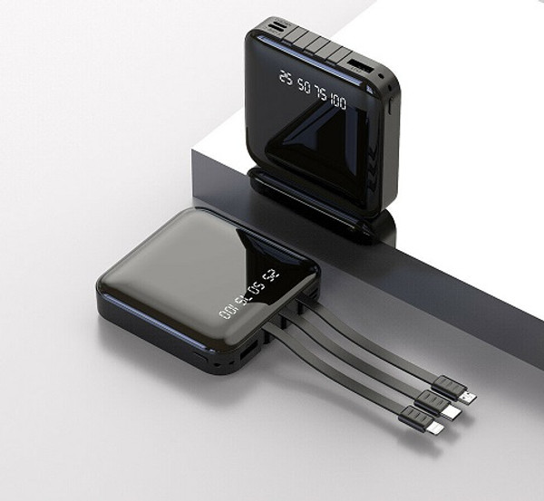 500000mAh Mini Power Bank USB Fast Charge for Type C Lightning