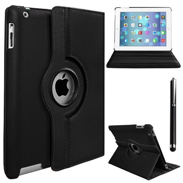 "Apple iPad Pro 9.7"" 360 Rotating Stand Case Folding Leather Case"