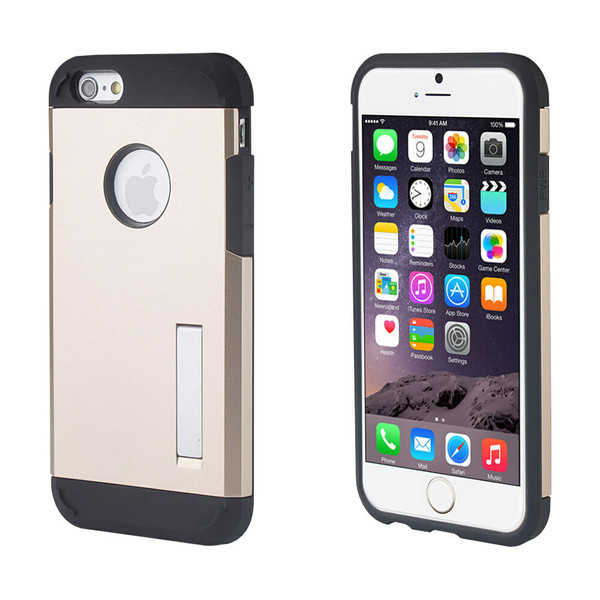 Apple iPhone 4 / 4S Gold Rugged Shockproof Armor Protective TPU Hard Case