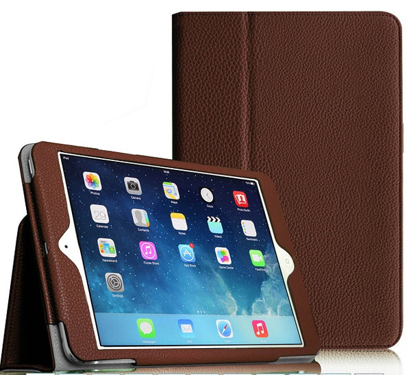 """Apple iPad Mini 5 2019 7.9"""" Inch Case Smart Leather Tablet Stand Brown Case"""