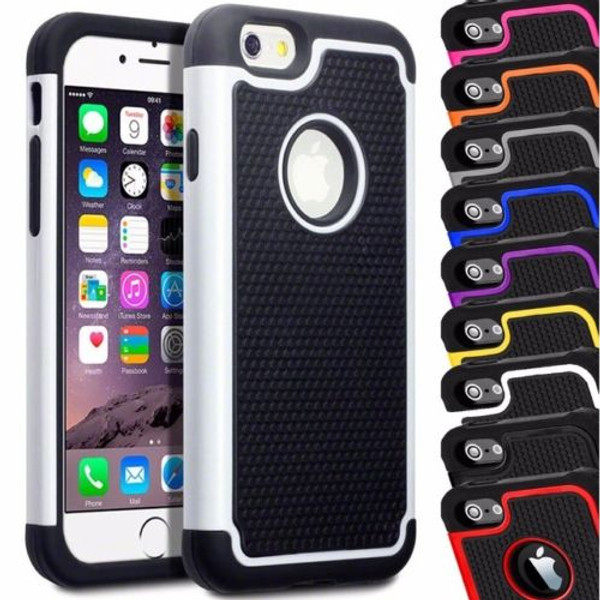Apple Iphone 4/4s Black Shock Proof Dual  Layer Case