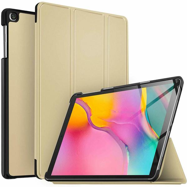 Samsung Galaxy Tab A 10.1 (2019) T510/T515 Magnetic Smart tri-fold Gold Case