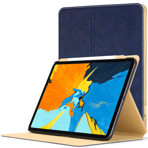 Apple iPad Pro 11'' 2018 Navy Blue Magnetic Protective Smart  Stand PU Leather  Case