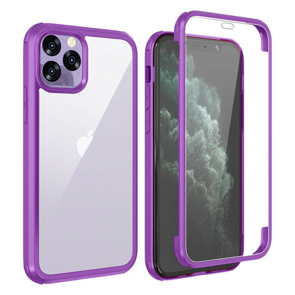 Apple iPhone  11 Purple 360 Double Sided Tempered Glass Full Cover Case