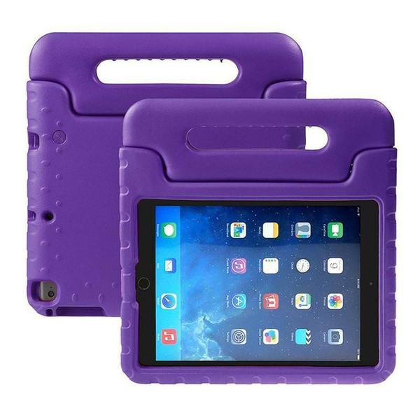Apple iPad Pro 9.7 2017 Kids Tough EVA Foam Stand Case Purple Cover