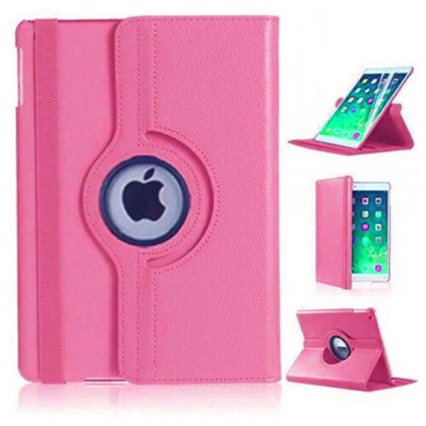 Pink PU Leather 360 Rotating Case for iPad Air 2(2014)