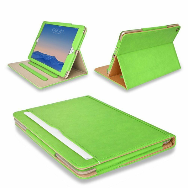 Apple iPad 10.2 (7th Generation) 2019 Green Luxury Magnetic Leather Flip Case
