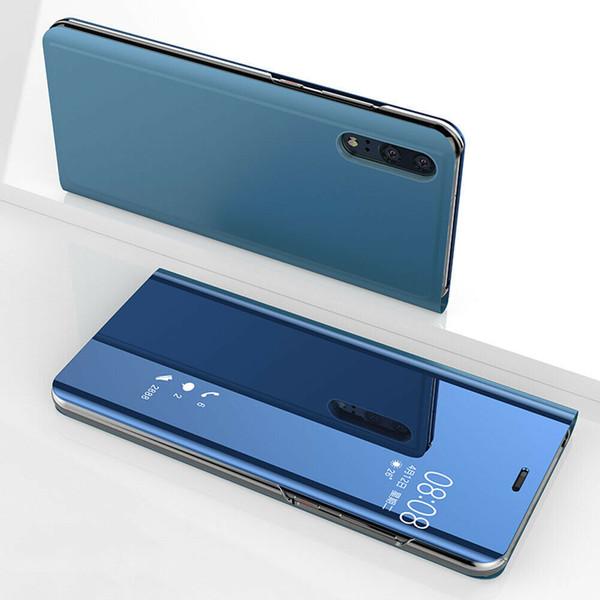 Huawei P30 Pro Blue Mirror View Flip Case Cover