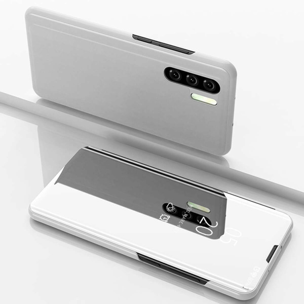 Copy of Huawei P30  Silver Mirror View Flip Case Cover