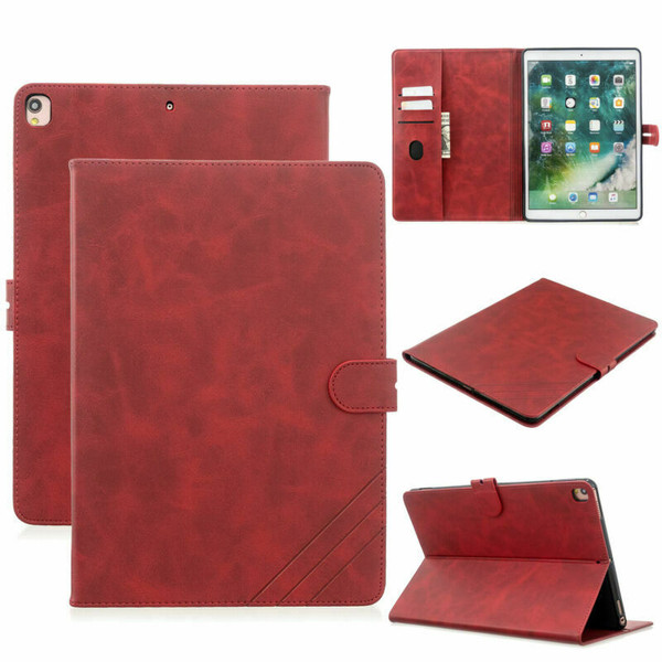 Red Apple iPad 10.2 7th generation 2019 Pu Leather Stand case