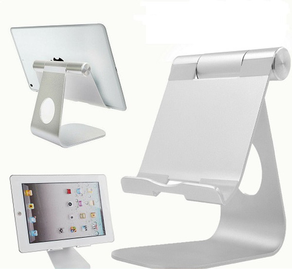 Adjustable Desk Table Stand Holder Tool for iPad Tablet Phone Light Part Silver