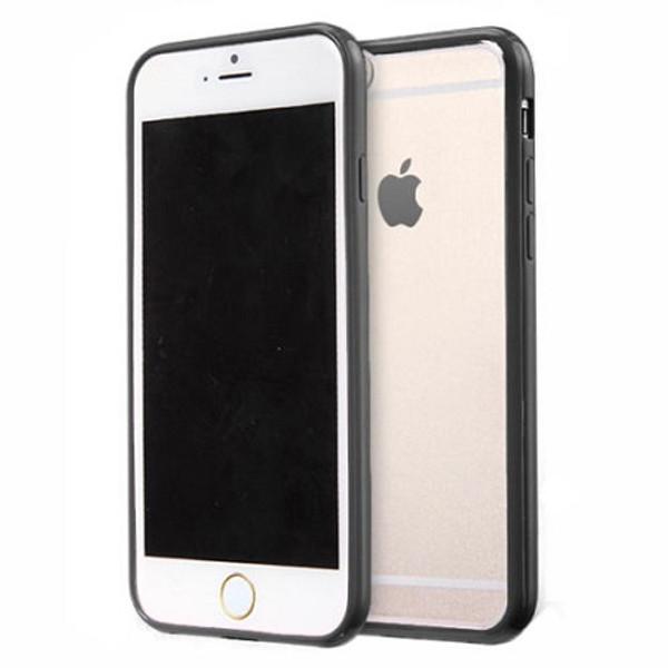 Apple iPhone 7  Clear Transparent Back Hard Case TPU Silicone Bumper Cove Black