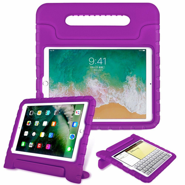 Purple Tough Kids Shockproof Eva Foam Stand Case iPad Pro 9.7  2016
