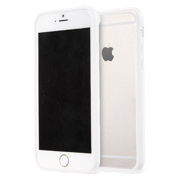 Apple iPhone 7  Clear Transparent Back Hard Case TPU Silicone Bumper Cove White