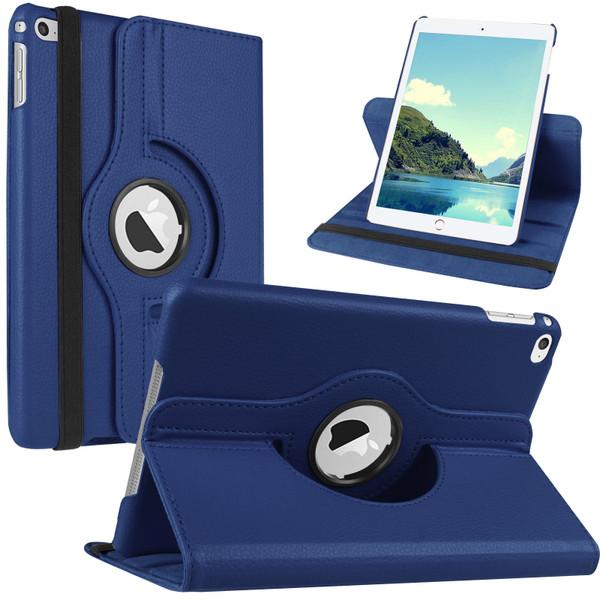Apple iPad Pro 9.7 2016 360 Rotating Stand Navy Blue Folding Leather Case