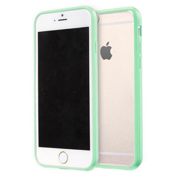 Apple iPhone 7 Plus Clear Transparent Back Hard Case TPU Silicone Bumper Cove Mint