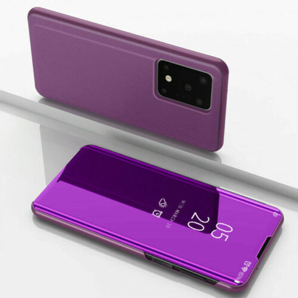 Samsung Galaxy  S10 Plus  Smart Purple Mirror Leather Stand Case