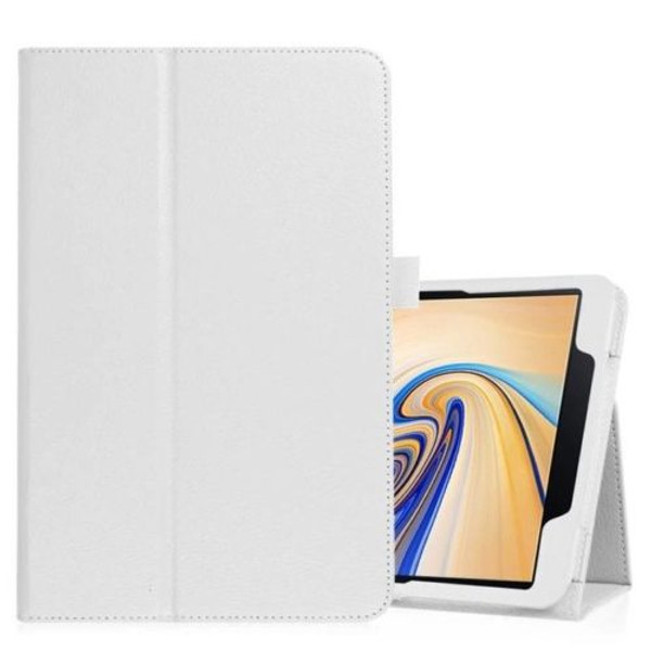 Samsung Galaxy Tab S4 10.5 T830/T835  White Leather Folio Stand Cover