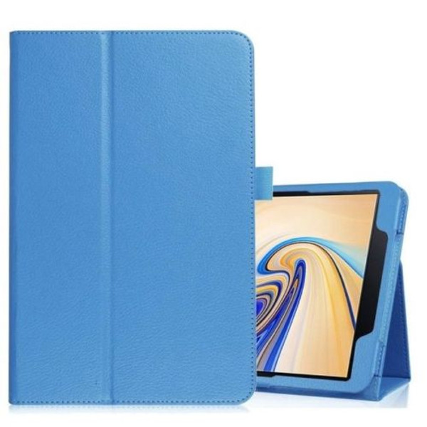 Samsung Galaxy Tab S4 10.5 T830/T835  Sky Blue Leather Folio Stand Cover