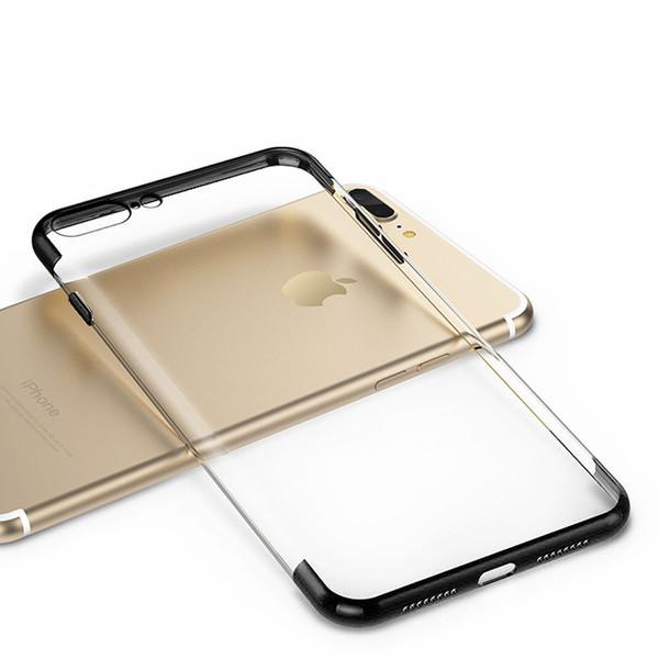 Apple Iphone 8 Luxury Ultra Slim Shockproof Silicone Black Case