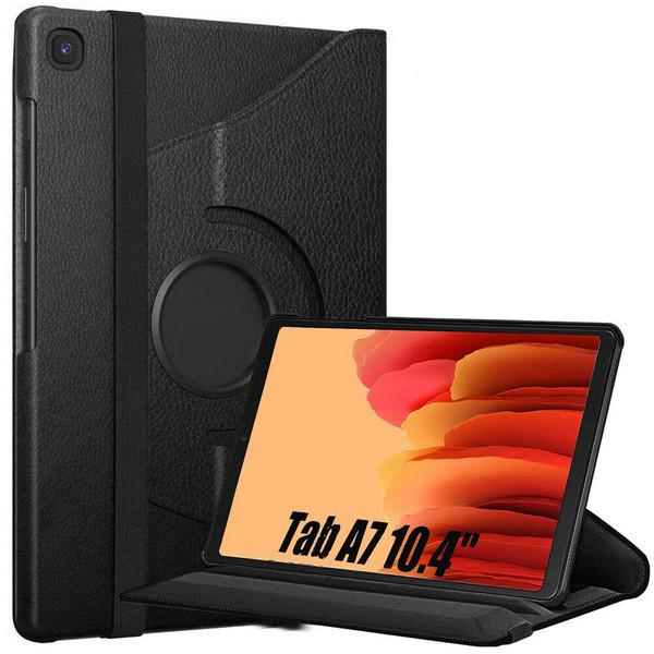 Samsung Galaxy Tab A7 10.4 2020 T500 T505  Black Smart 360 Folding Stand Cover