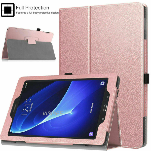 Samsung Galaxy Tab A 10.1 T580 T585 2016  Rose Gold Smart Leather Tablet Flip Case Covers