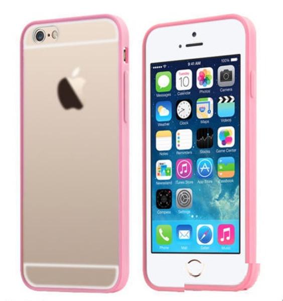 Apple iPhone 8 Plus Clear Transparent Back Hard Case TPU Silicone Bumper Cove Rose Gold