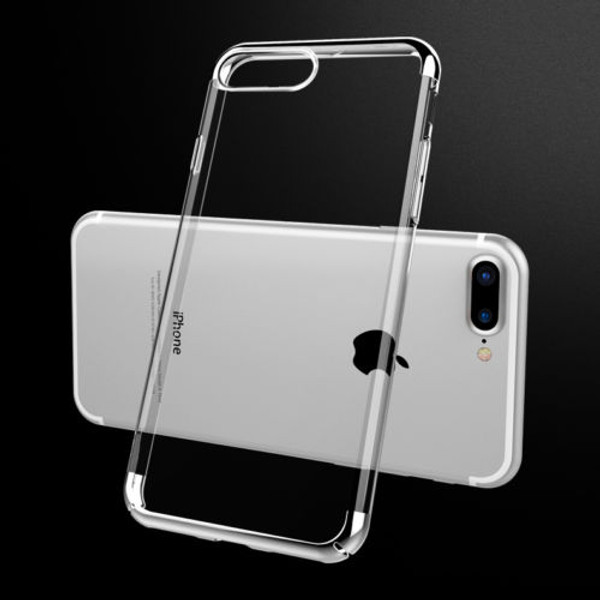 Apple Iphone 8 Plus Luxury Ultra Slim Shockproof Silicone Silver Case