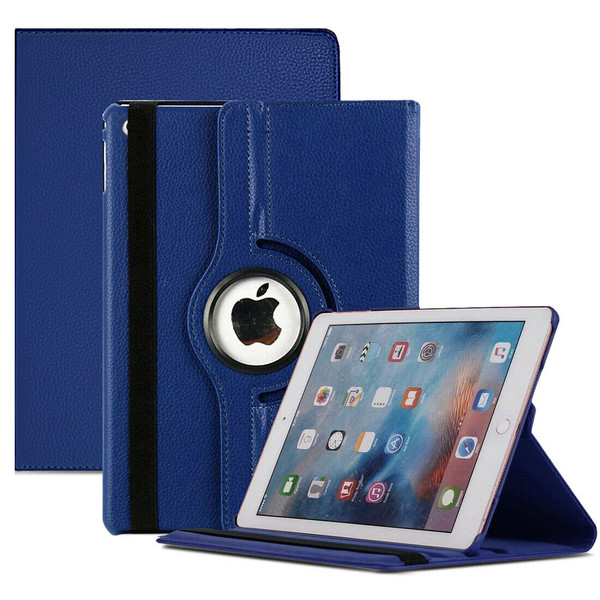 Navy blue PU Leather 360 Rotating Case for iPad  10.2 8th Gen 2020