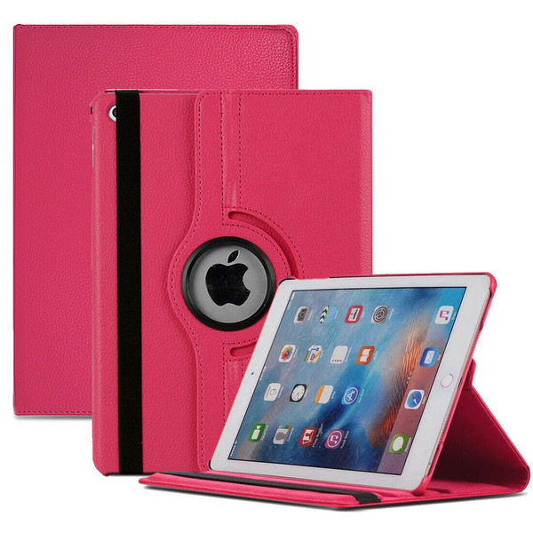 Pink PU Leather 360 Rotating Case for iPad  10.2 8th Gen 2020