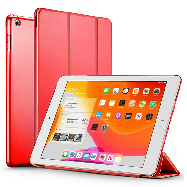 Red Slim Magnetic Leather Smart Stand Case Cover For iPad 10.2 (2020) 8th Generation
